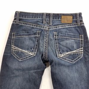 BKE Fulton Distressed Straight Leg Buttonfly
